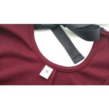 Etiquette de taille à coudre pour vêtements