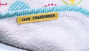 Etiquettes tissées Nom Prénom
