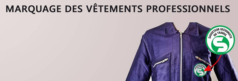 marquage vêtements professionels